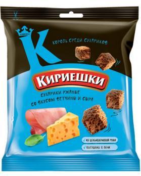 Кириешки сухарики со вкусом ветчины с сыром, 40 гр. КДВ